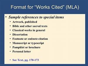 How To Format Work Cited Writing The Research Paper A Handbook 7th Ed Ch 9 Mla