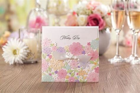 3pcs Colorful Flower Canvas Abstract Painting Print Art: 50 Pcs Colorful Flower Wedding Invitation; Spring Laser