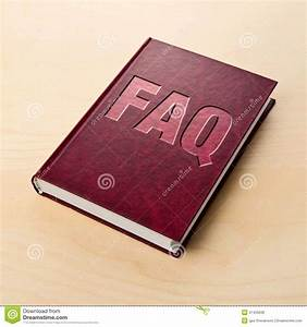 Faq Book  Frequently Asked Question  Stock Photo