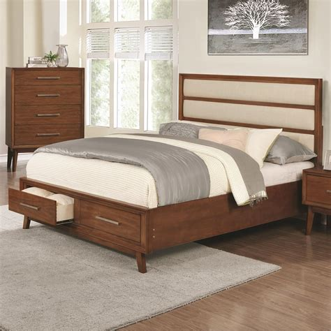 california king bed with drawers banning upholstered panel california king bed with 2