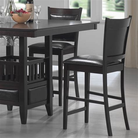 square counter stools dreamfurniture 100959 jaden square counter height 2439