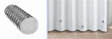 shower curtain weights how to stop your shower curtain from blowing in magnets