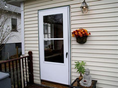 vinyl screen doors exterior white vinyl screen sliding door with pet door