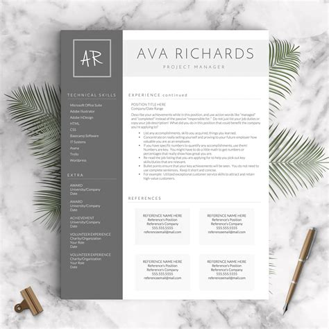 16434 designer resume templates 2 creative resume template the