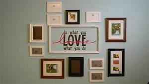 Wall decor and photo frames : Dressing up a wall pictures frames mp interiors