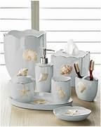 Bathroom Decorations by Marie Shells Seafoam Bath Accessories Set Coastal Style Beach Style Bath