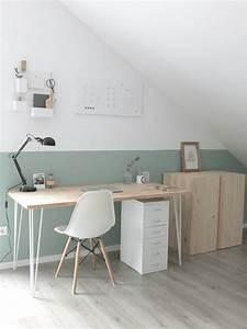 Schreibtisch Im Schlafzimmer : wohngoldst ck interi r home office im scandi look ~ Frokenaadalensverden.com Haus und Dekorationen