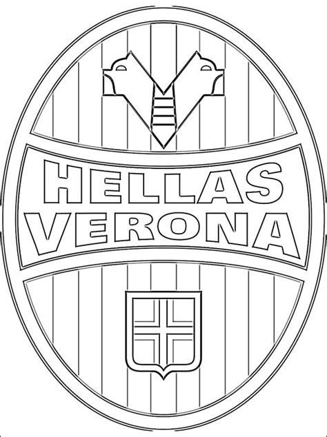 disegni da colorare e stare gratis virina hellas verona football club logo da colorare disegni da