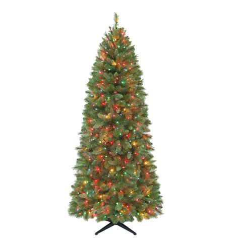 trim a home 174 7ft scottsdale slim tree with multi color lights
