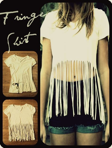 Diy Projects To Try Make Your Own Fringe T Shirt Fringe