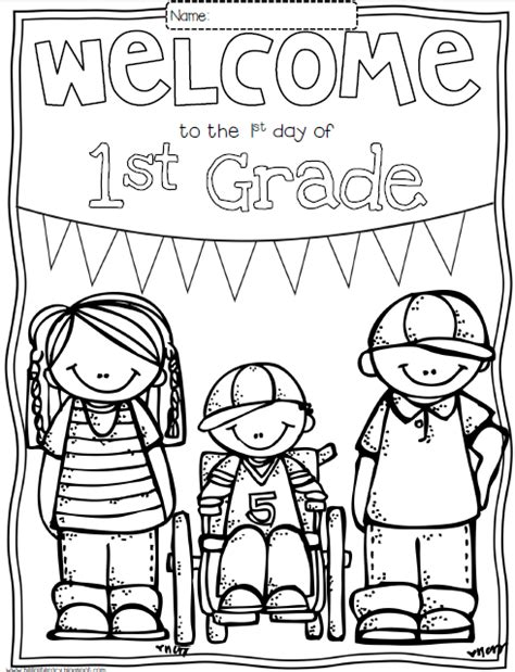 1st grade coloring pages welcome back to school coloring pages coloring home