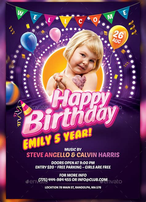 spectacular birthday flyers templates sample templates