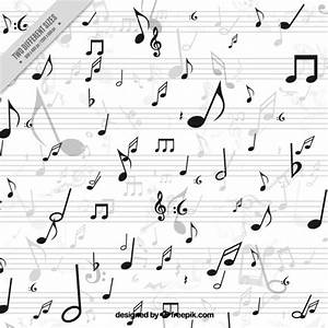 White background with musical notes Vector | Free Download