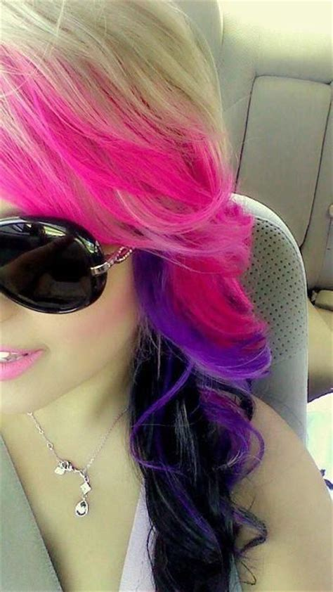Purple And Pink Hair And Sunglasses Get Your Sunglasses