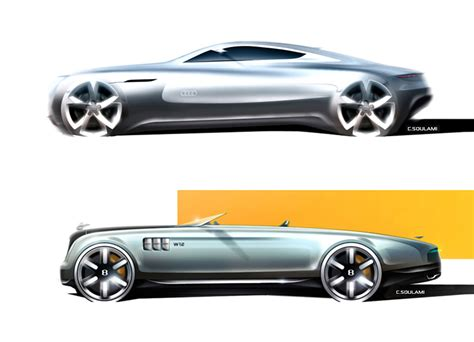 Car Design Concepts : Audi And Rolls-royce Concept Design Sketches By Identi2