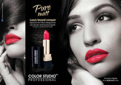 Lipstick Magazine Ad on Behance