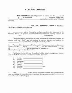 maid service sample maid service agreement cleaning With janitorial service contract template