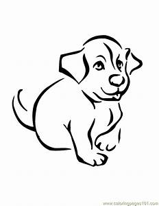 Coloring Pages Baby Dog (Animals > Dogs) - free printable ...