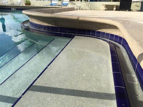 resurface pool deck with tile palm pool pros pool repair and pool resurfacing