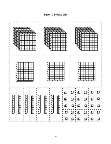 base ten block templates base 10 blocks thousands math
