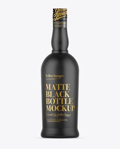 Professional high quality realistic perfume bottle mockup for portfolio, showcase, presentation, poster, advertisment, and more. Matte Black Bottle Mockup in Bottle Mockups on Yellow ...