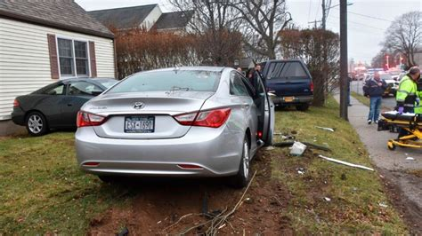 driveway cars pickup slams into two cars in west islip driveway police say newsday