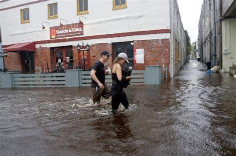 hurricane matthew lashes historic coastal cities blamed