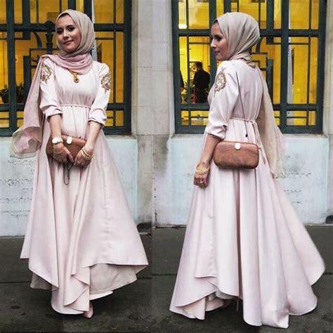 aneka gamis model baju muslim gamis modern terbaru 2018 untuk lebaran