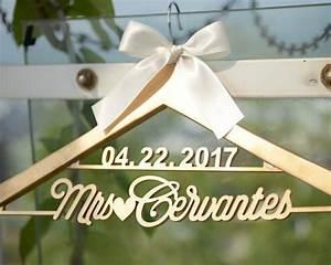 Deluxe personalized wedding dress hanger bride or for Custom wedding dress hanger