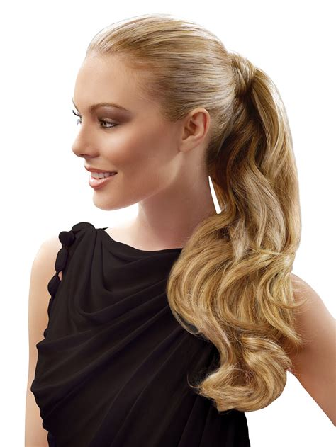 hairdo hair wrap extensions human ponytail voguewigs extension pony around qvc clip