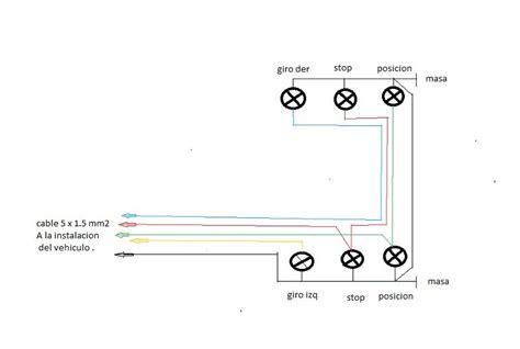 solucionado conexion electrica un carrito remolque de arrastre electricidad y