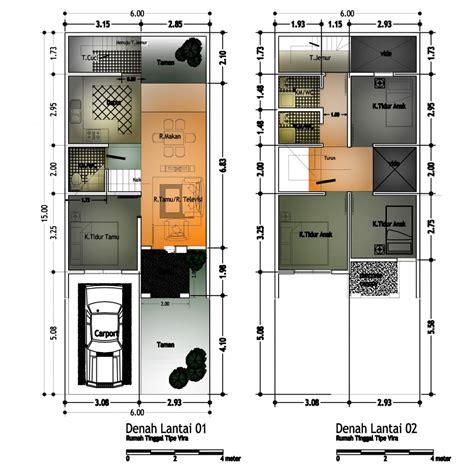 gambar denah desain rumah minimalis indonesia