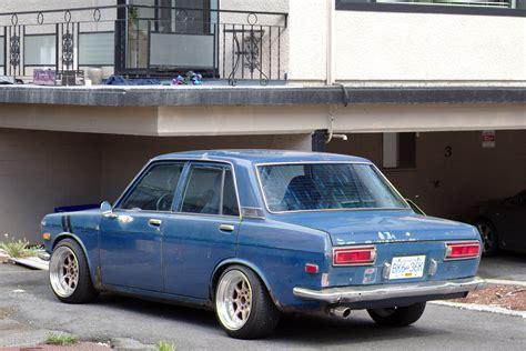Datsun 510 Sedan parked cars vancouver 1969 datsun 510 sedan