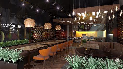 photos of kitchen interior cafe restaurant interior design in dubai spazio