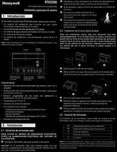 Rth230b Honeywell Thermostat  Manual