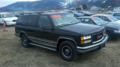 how to work on cars 1998 gmc yukon user handbook 1998 gmc yukon 4x4 350 v8 auto for sale montana black youtube