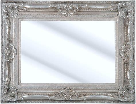 como silver framed ornate bevelled mirror  sizes click