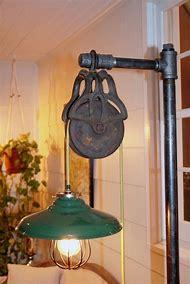 Vintage Industrial Pulley Floor Lamp