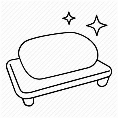 Soap Bar Clipart Outline Coloring Washing Bath