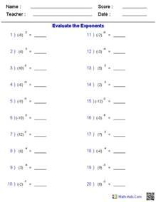 ideas about working with exponents worksheets easy worksheet ideas - Working With Exponents Worksheets