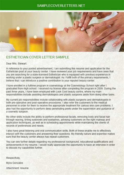 Esthetician Cover Letter Sle by Esthetician Cover Letter Sle On Pantone Canvas Gallery