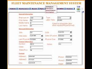fleet maintenance management system aspnet with c With fleet management documents