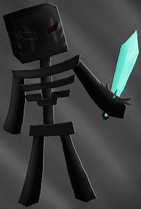 Minecraft Wither Skeleton with diamond sword by DragonSiga ...