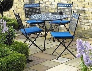 Tavoli da giardino in ferro battuto e mosaico ~ Mobilia la tua casa