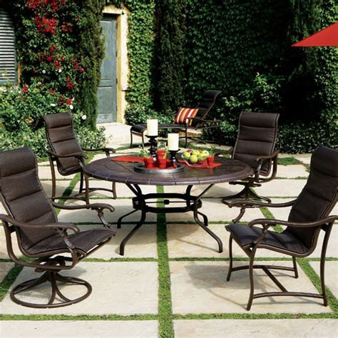 ravello padded sling patio furniture by tropitone