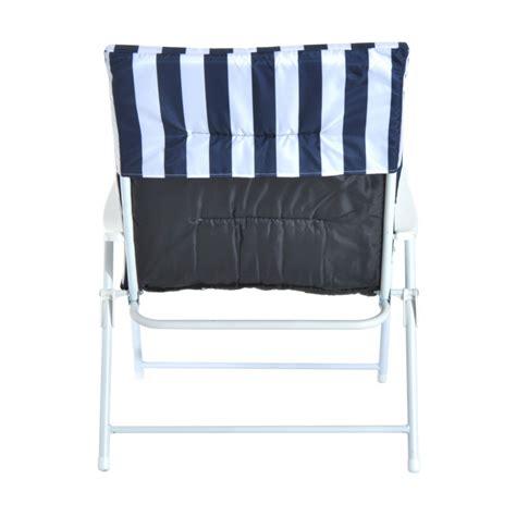 set de  chaises pliantes avec accoudoir era bleu  blanc