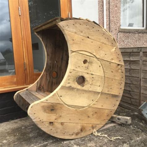 reclaimed solid wood cable drum rocking chair  images