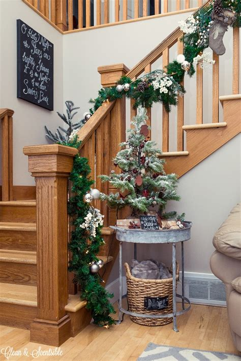 Garland For Banister by How To Hang A Garland On The Stairs Clean And Scentsible