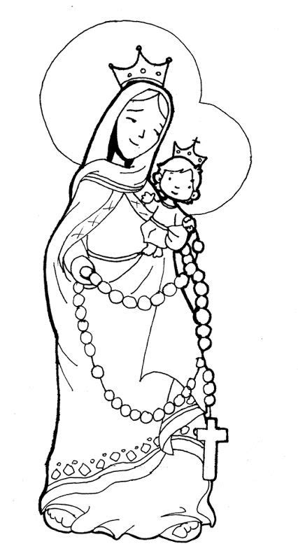 virgin marie   rosary coloring pages coloring pages