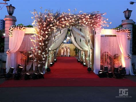 Outdoor Decoration by Wedding Decoration Outdoor Entrance Decoration